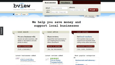 Bview from Web 2.0 to voucher site