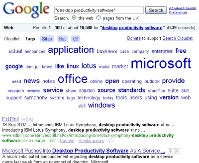 INTSPEI's Search Cloudlet atop Google's results